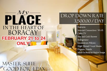 MY PLACE at the HEART of BORACAY for 4 Pax - 말레이