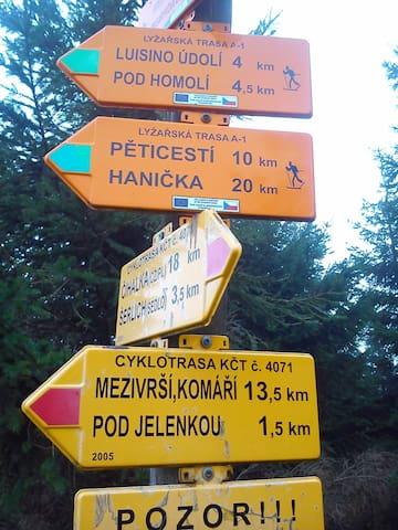 Czeska strona Zieleńca. Trasy biegowe, a latem rowerowe.