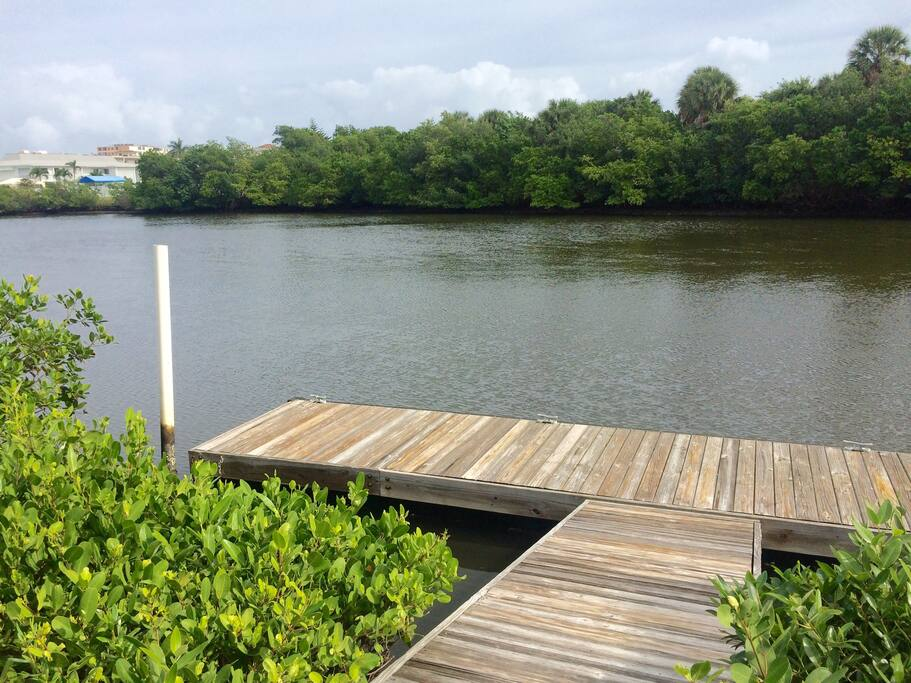 Try your luck fishing at the dock