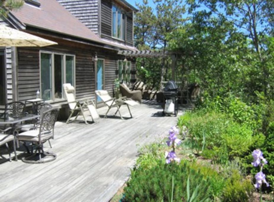 Private South-Facing Deck.