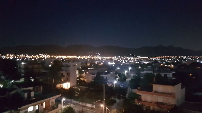 Night view from the balcony.