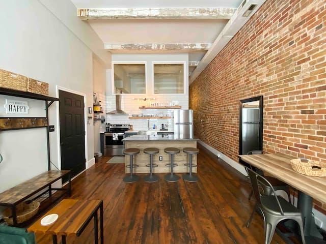 Hip Loft in Heart of Historic DT 2 King BR + Pkg