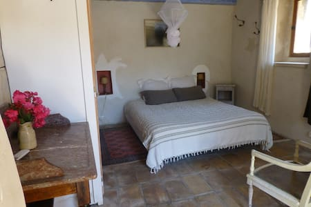 Chambre avec terrasse privative: la Chambre bleue