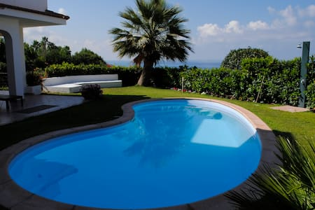 villa with private pool near beach