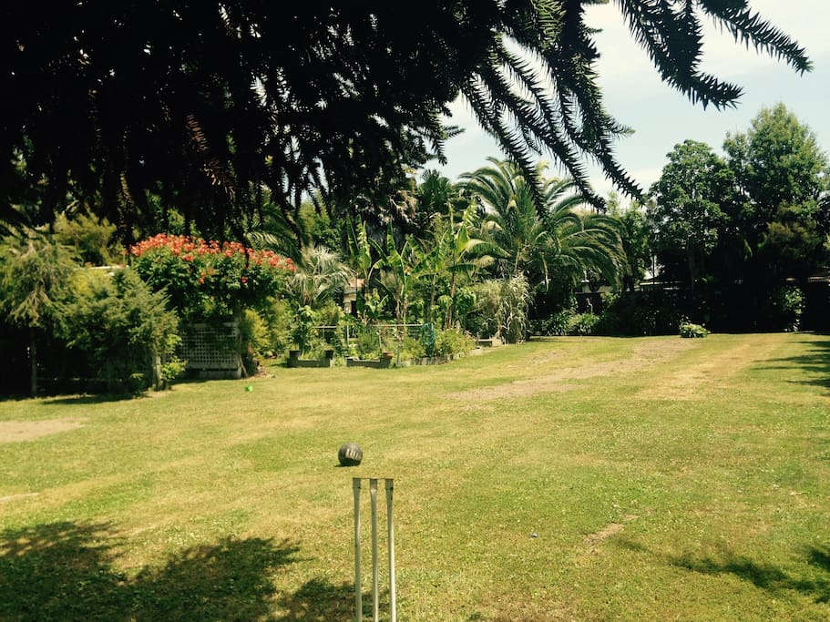 Big back yard to enjoy a game of cricket, or a private sunbathe.
