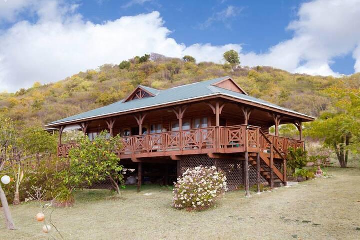 Caribbean log house