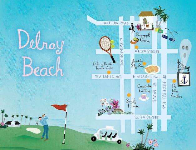 We are on the SAME STREET as the Delray Beach Tennis Center, right in the heart of everything you could possibly desire!