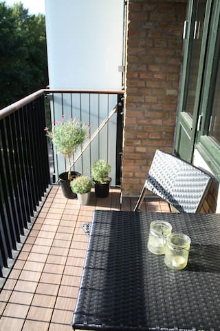 The balcony - our favorite spot and the perfect place to enjoy your morning coffee