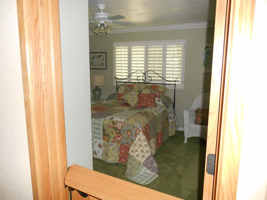 Your bedroom is on the ground floor with private entrance.  Full bath across the hall.