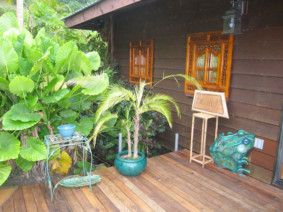 Entrance and garden lanai.