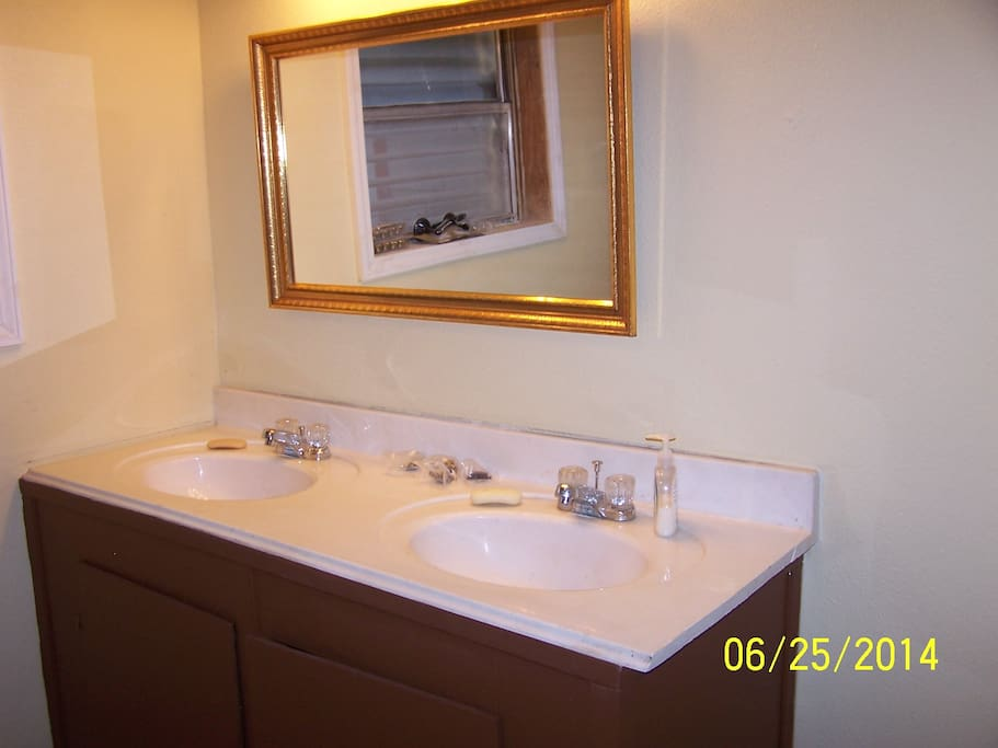 Large Double Sink Vanity with lots of Cabinet Storage