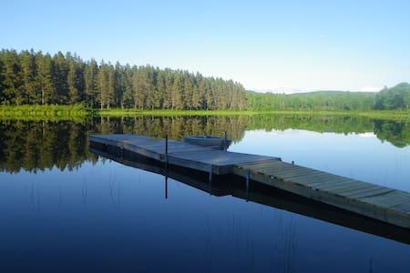private domaine w lake + log house - Ev