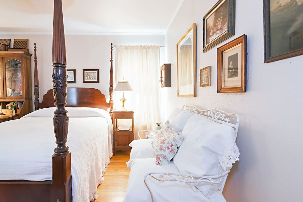 charming bedroom with European antiques!
