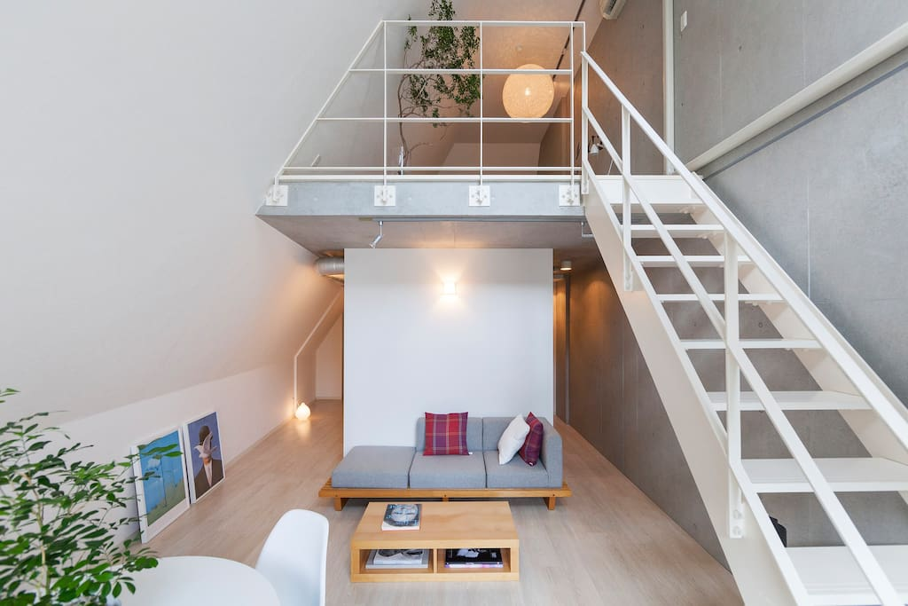 Stairs to the loft.