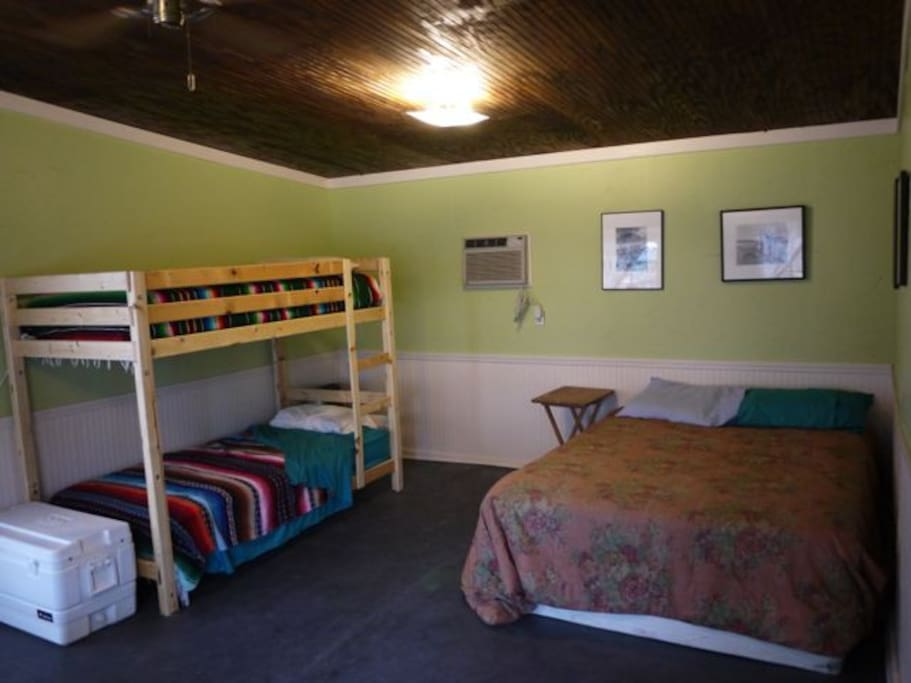 Air conditioning! and bunkbeds . . .