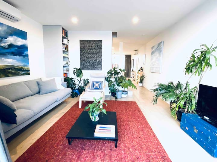 Inner Melbourne plant and art filled townhouse