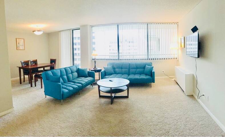 Mins2DC,Walk2Metro,2Bedrooms,1-8 ppl,Free parking