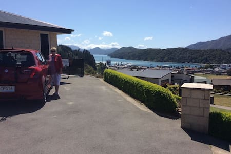 Great views over Marlborough Sounds - Picton