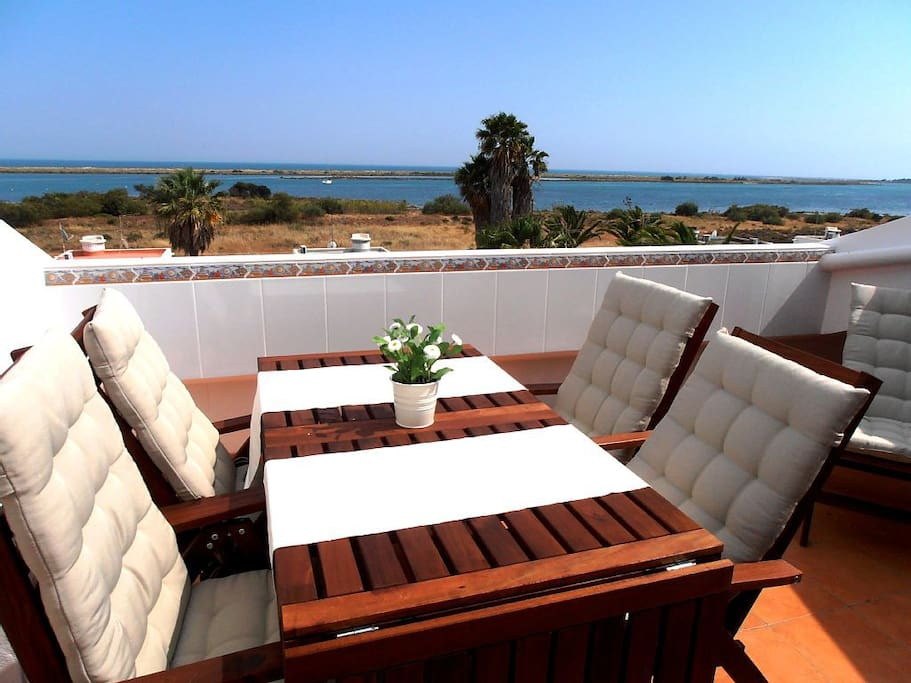 Enjoy the view while relaxing at the terrace