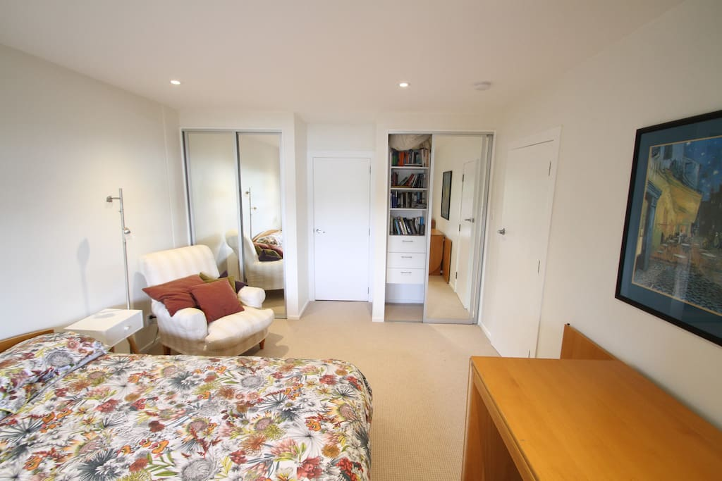 Plenty of storage space with two large wardrobes
