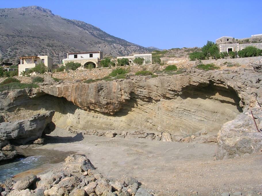 The beach near the villa