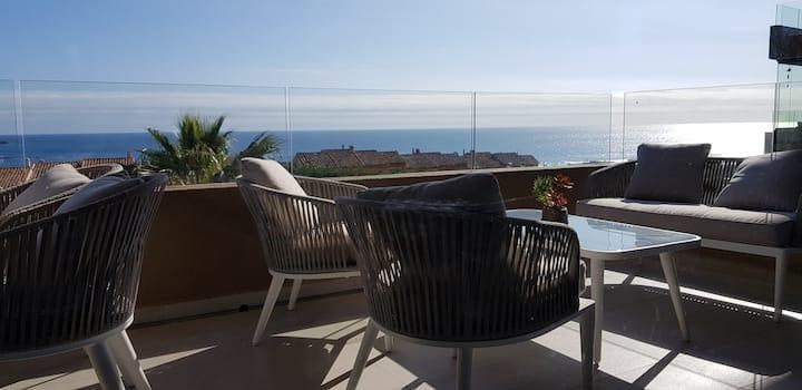 Costa Quintay. Amplios espacios y vista al mar.