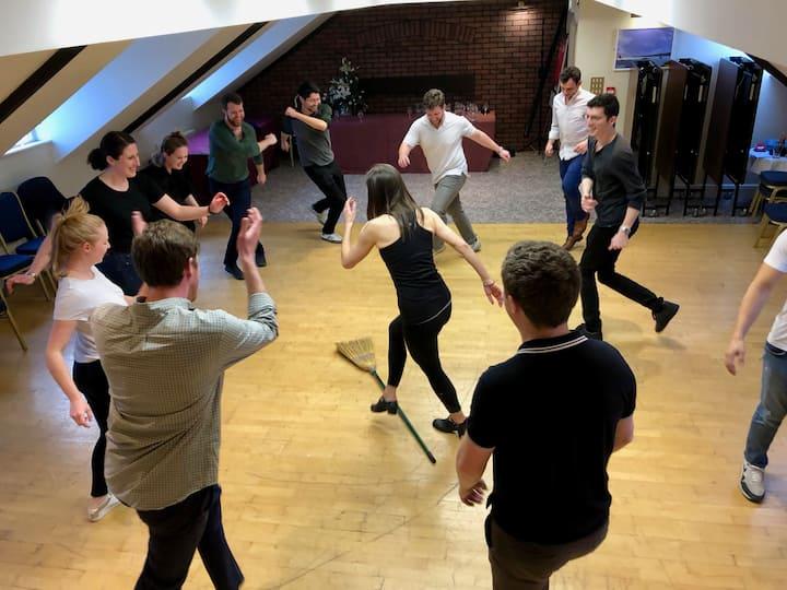 'Brush dancing!'