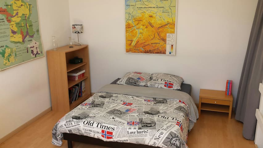 Chambre spacieuse + sdb privatives - Limoges - Wohnung