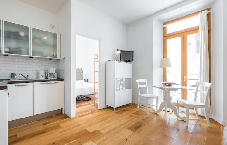Quiet & cosy 1 bdr A/C close from Place Massena