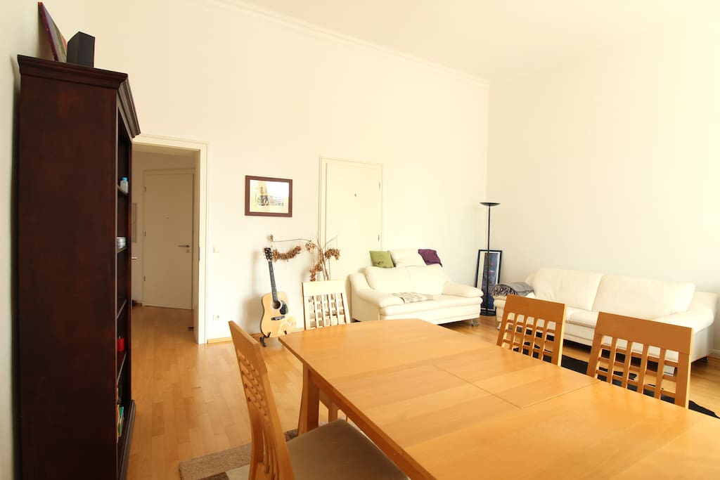 The whole apartment welcomes you with its warm atmosphere.