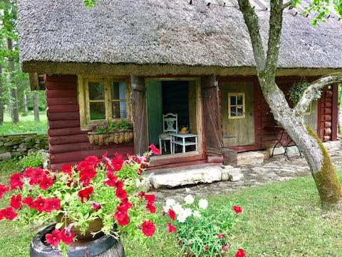 Rustic & romantic cabin in Muhu Music Farm