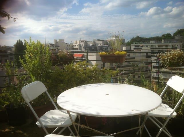 Roof Top 50 m2 Buttes Chaumont-Belleville
