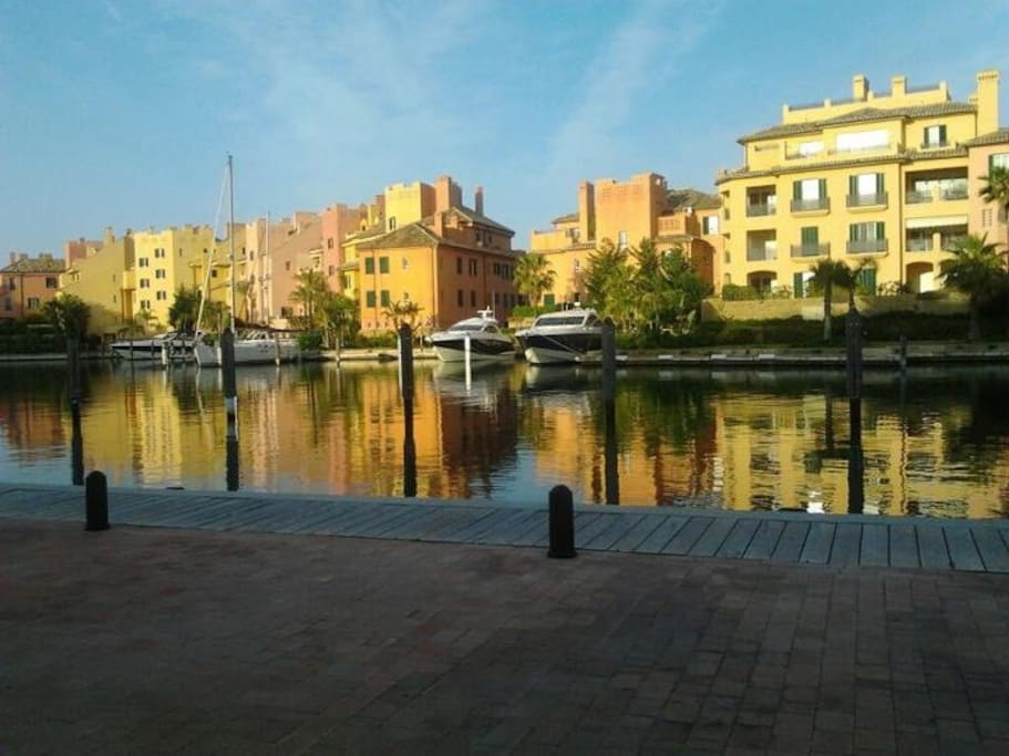 Rear view of marina from Sotogrande Blue