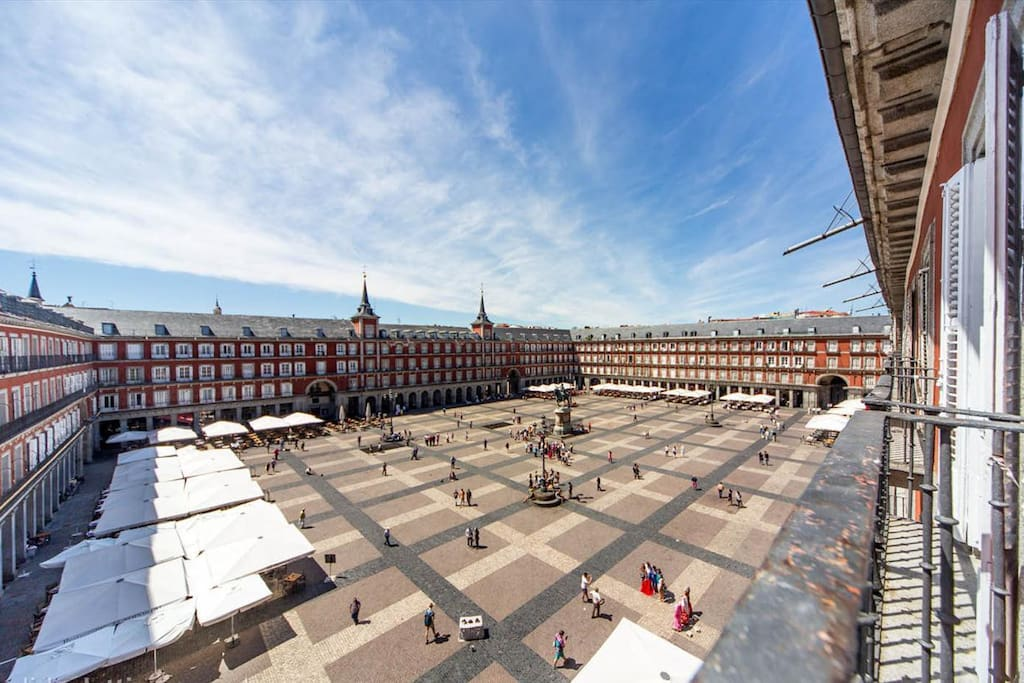 View to Plaza Mayor from the balconies