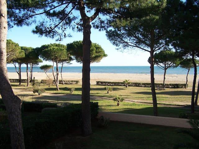 Front de mer à Argelès sur mer avec la vue mer - Argelès-sur-Mer - Lejlighed