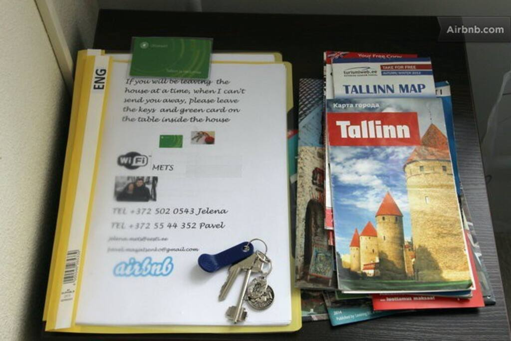 Tallinn city maps and public transport cards free