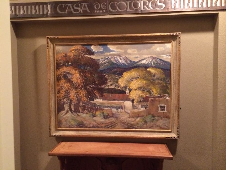 Welcome to Casa de Colores! The inviting entry to a world of art.