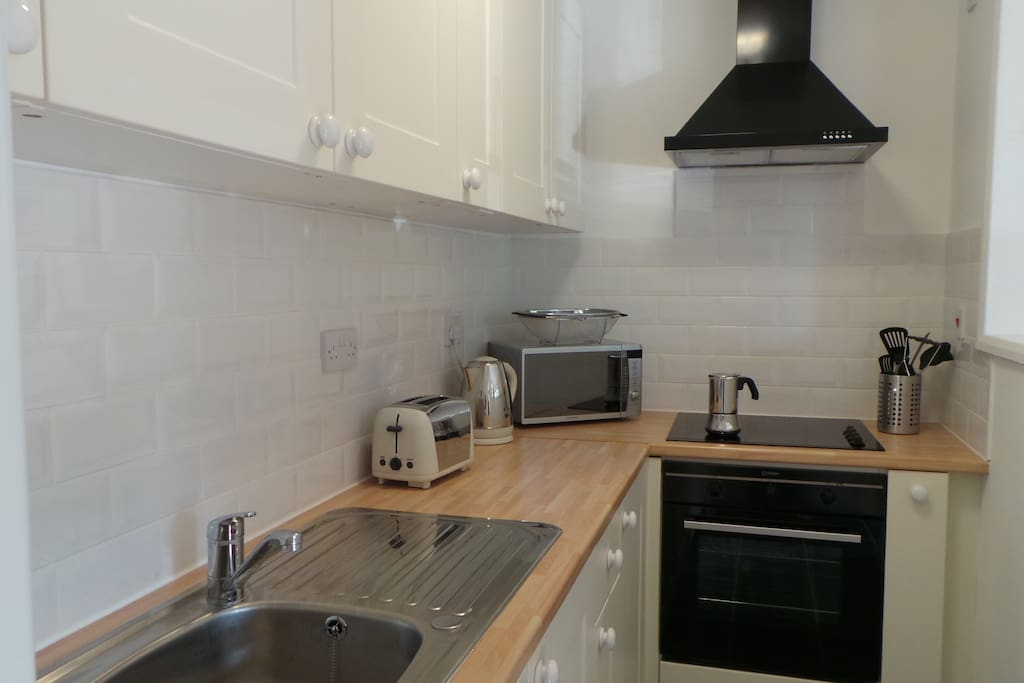 Modern fully equipped kitchen area