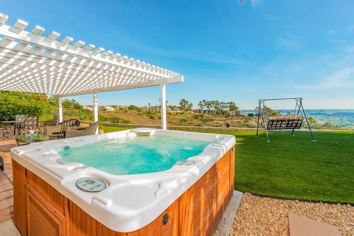 Relax in the hot tub and enjoy the views!