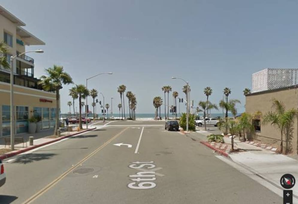 Yes, this is your typical day, walk across Pacific Coast Highway and you're on the beach.
