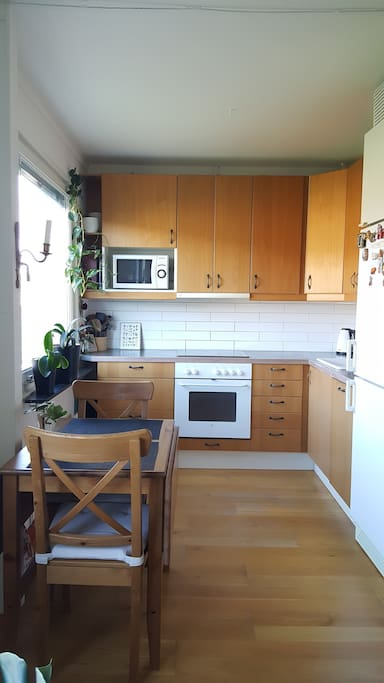 Fully equipped kitchen with dishwasher. Tea and coffee provided.