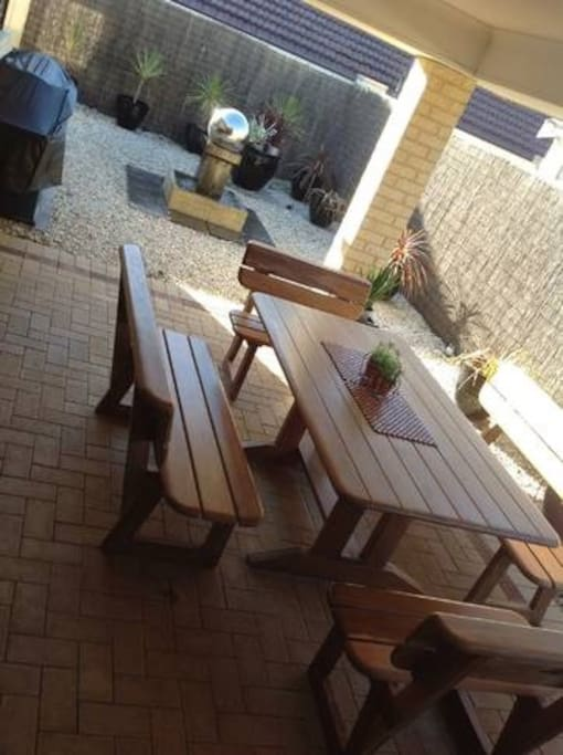 Outside Alfresco Dining Area... With BBQ