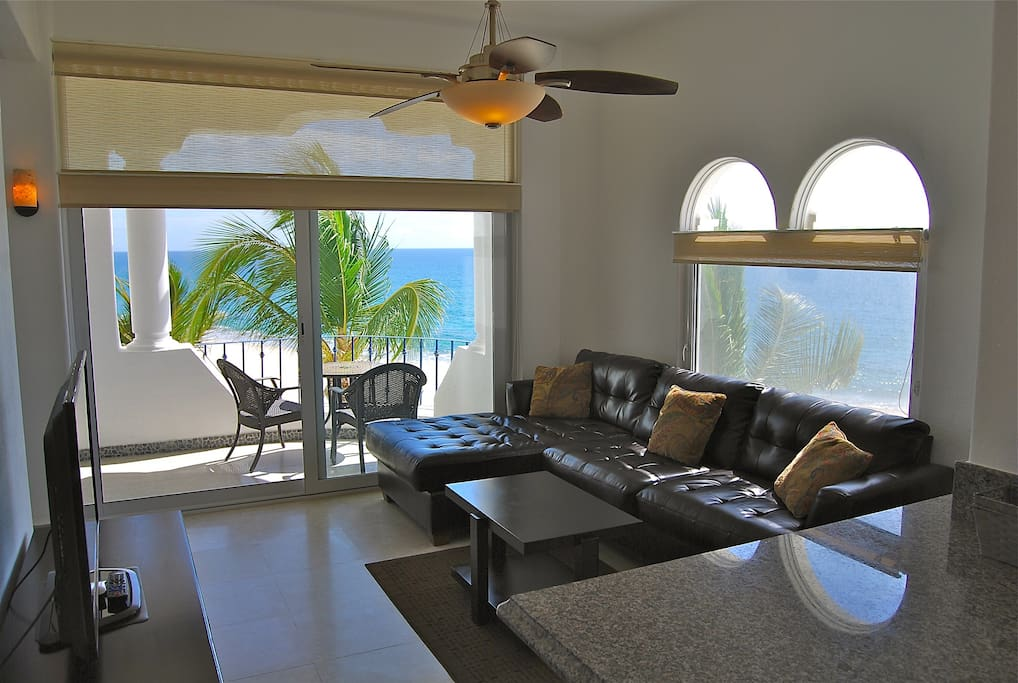 Beautiful Living Room with Panoramic Ocean Views