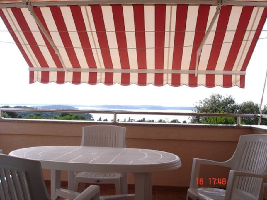 The awning allows staying on the terrace even when is hot and sunny.