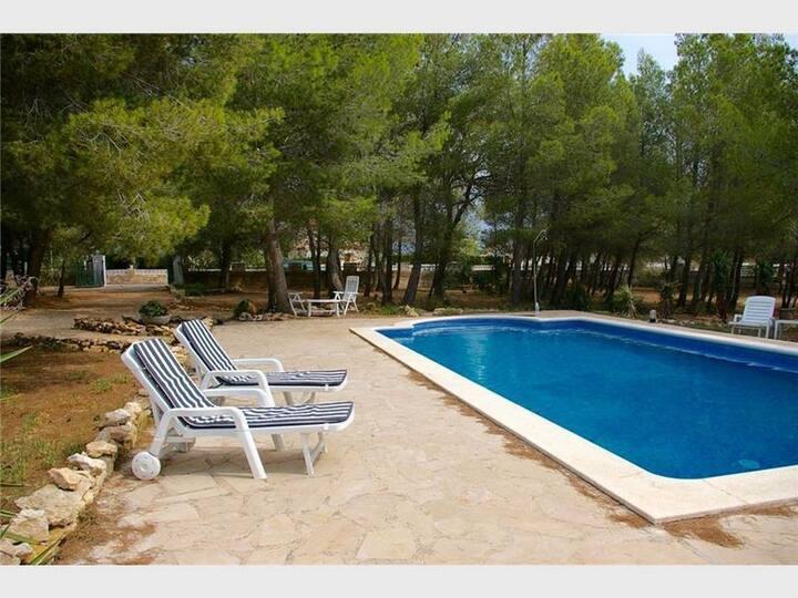 Grande propiedad y jardín con piscina privada y wifi Playa y pueblo a 5 mn
