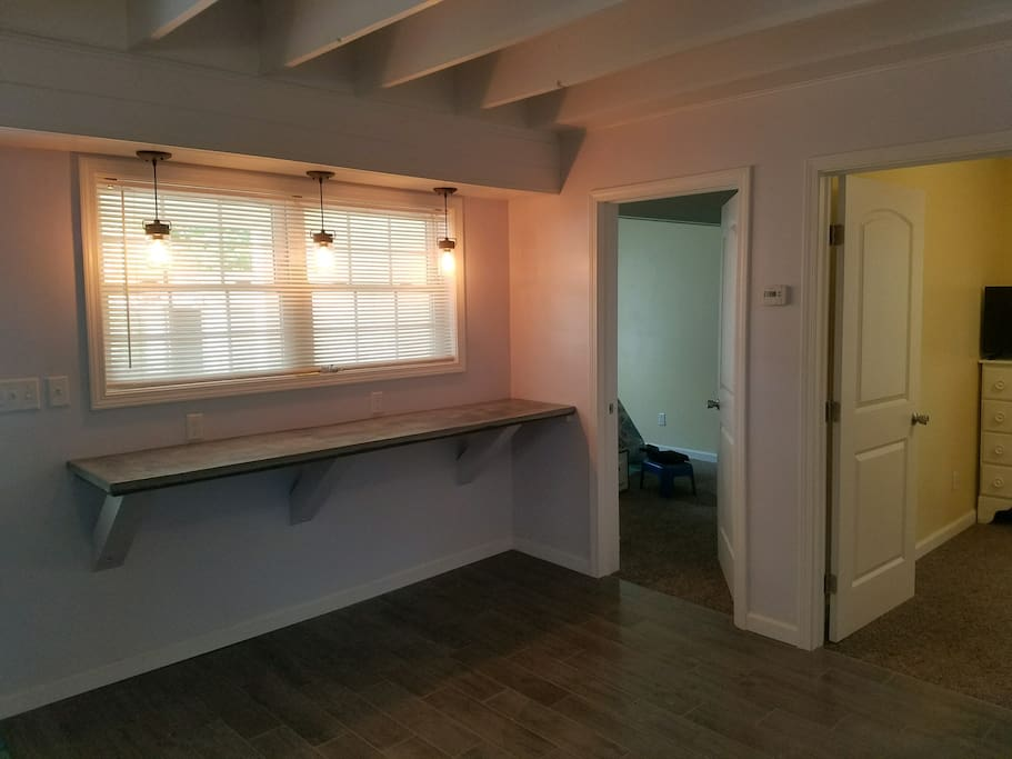 Two bedrooms on first floor and breakfast bar