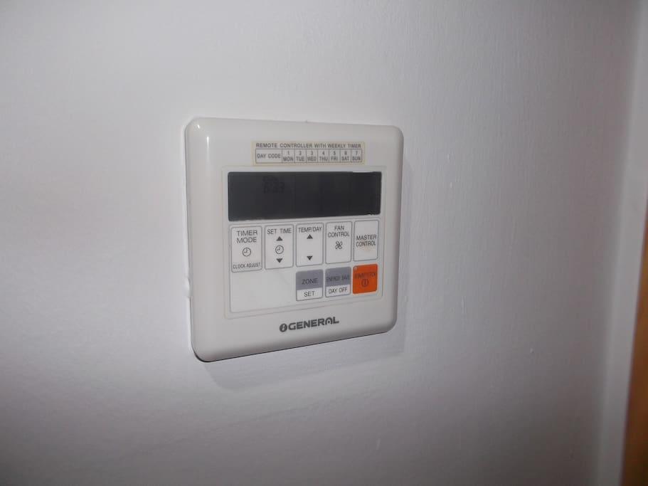 Control del climatizador frio/calor