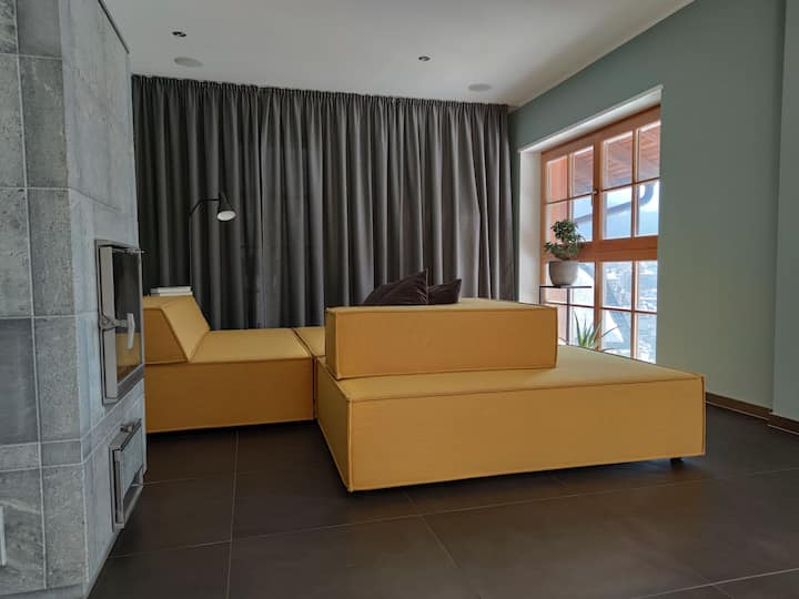 Modern apartment with balcony in Ortisei