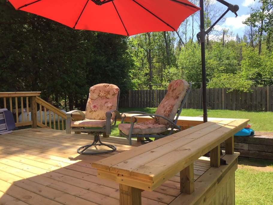 Back deck seating