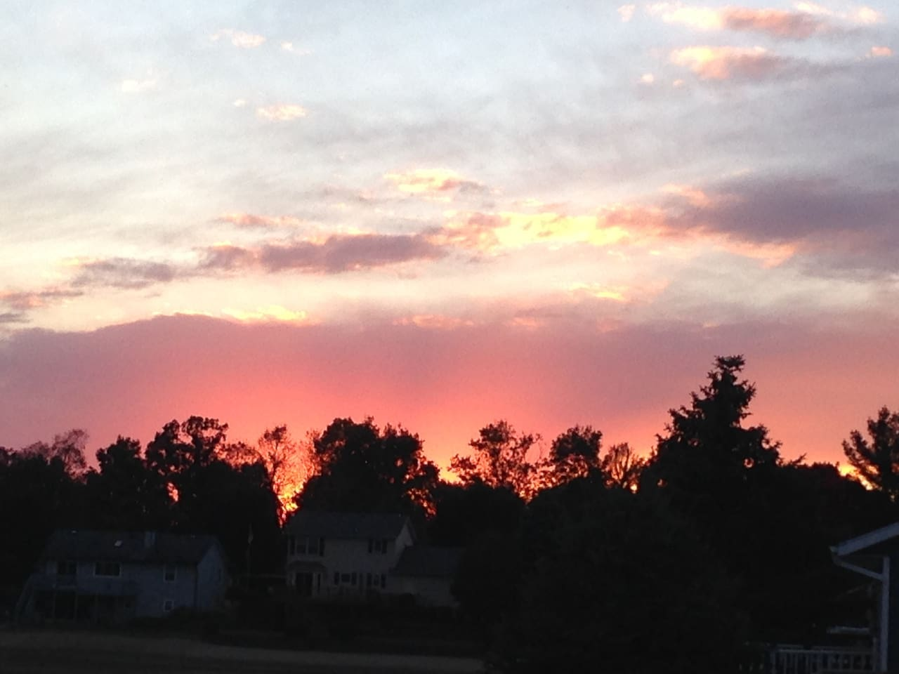 Sunset from the backyard!